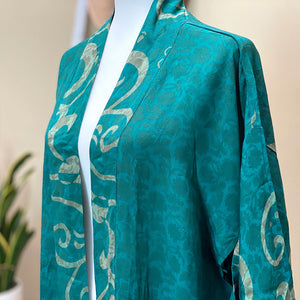 silk crepe waterfall kimono - The Fox and the Mermaid