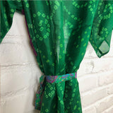 Green Kimono with Purple Belt The Fox and the Mermaid