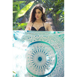 Minty Green Ombre Mandala Roundie with Thick Fringe - The Fox and The Mermaid - 2