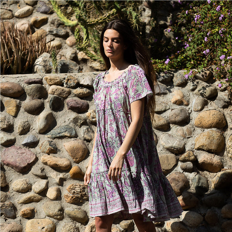 indian cotton voile floral Dress - The Fox and the Mermaid