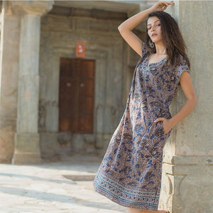 long boho dress with pockets The Fox and the Mermaid