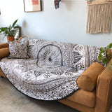 Grey Ombre Round Mandala Quilt The Fox and the Mermaid