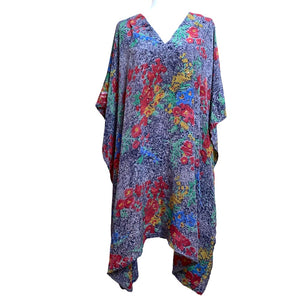 floral indian kaftan in vintage silk - The Fox and the Mermaid