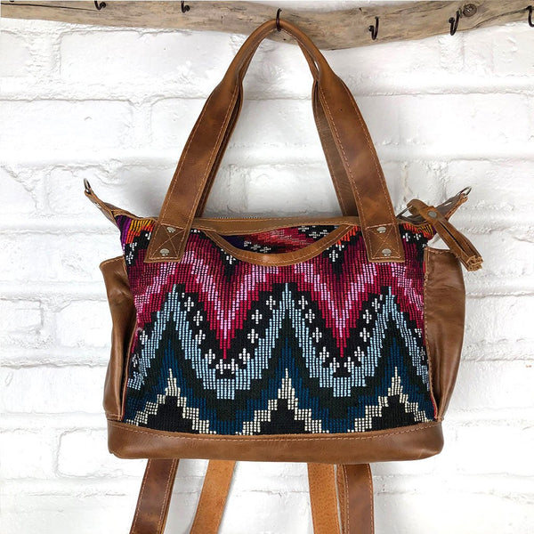 Geometric guatelaman bag The Fox and the Mermaid
