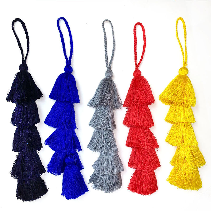 Colorful mayan tassels handmade The Fox and The Mermaid