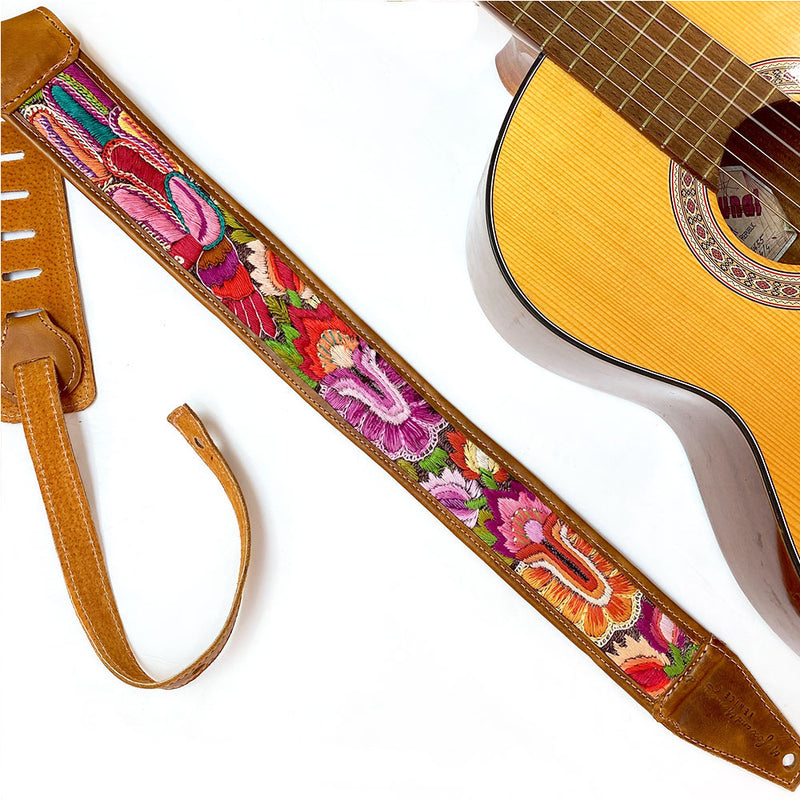 Electric or Accoustic  Guitar Strap - The Fox and the Mermaid