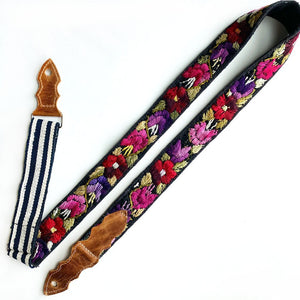 Guatemalan Embroidered Guitar Strap - The Fox and the Mermaid