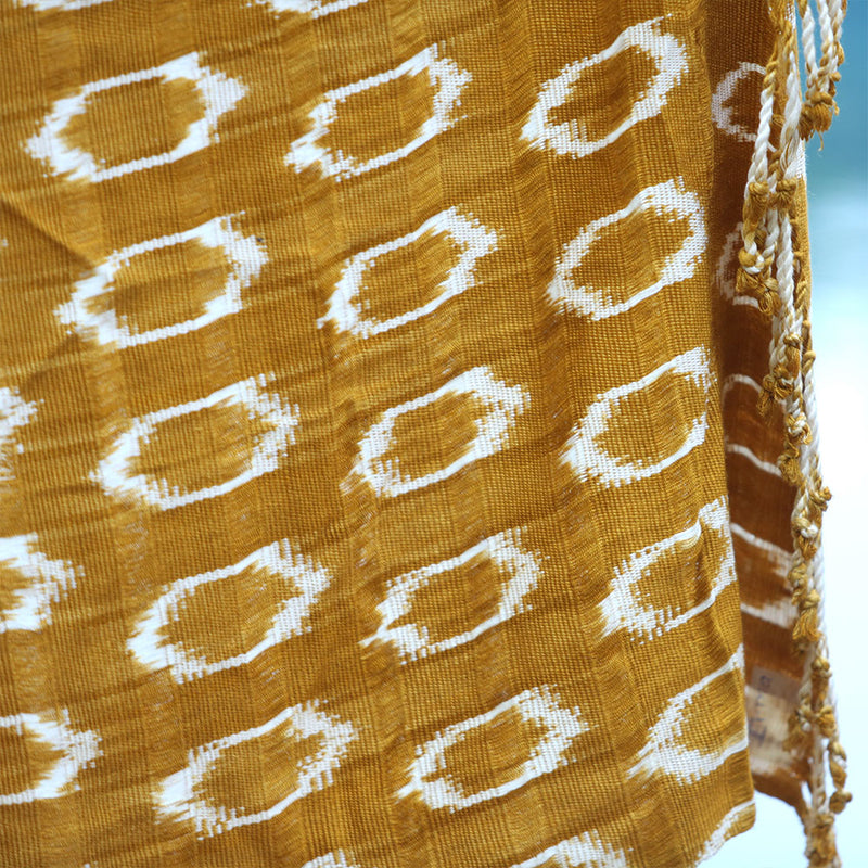 detail handwoven scarf - The Fox and the Mermaid