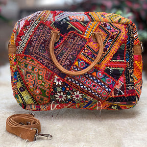 indian computer bag with vintage tribal embroidery - The Fox and the Mermaid