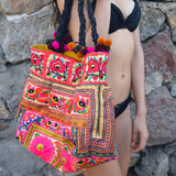 Orange and Yellow Hmong Tribe Embroidered Bag - The Fox and The Mermaid - 1
