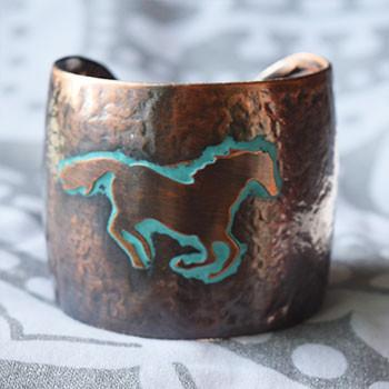 Antique Bronze Boho Cuff - The Fox and The Mermaid - 1