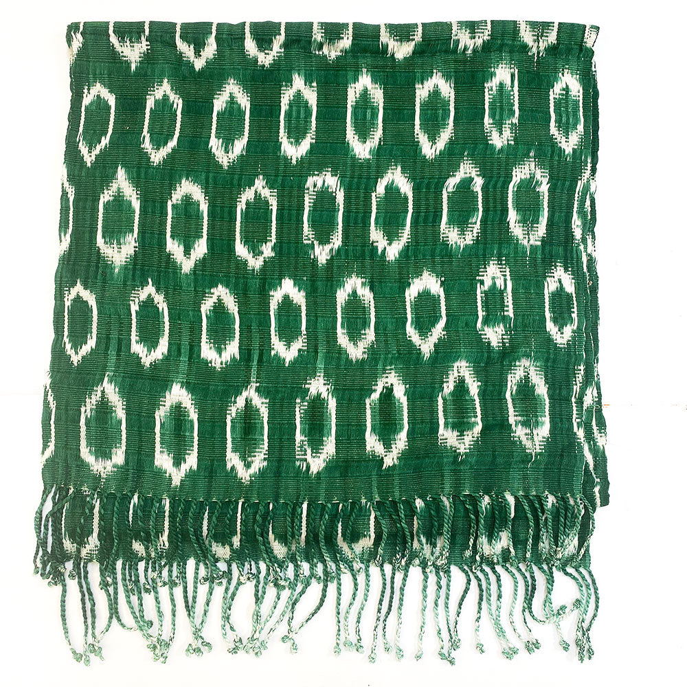 Green mottled guatemalan throw - The Fox and the Mermaid