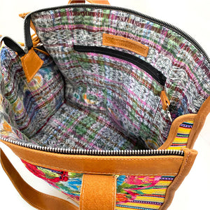 ikat interior of dog bag - The Fox and the Mermaid