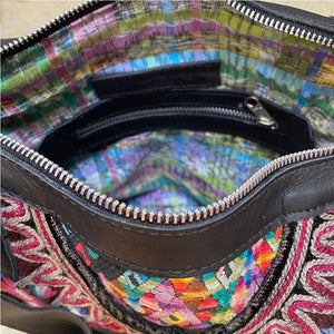 colorful handwoven ikat bag interior - The Fox and the Mermaid