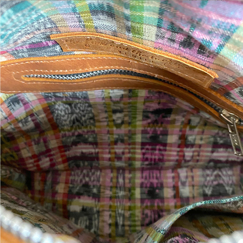 colorful hand-woven ikat lining - The Fox and the Mermaid