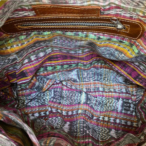 ikat handwoven lining for bag  Guatemalan  - The Fox and the Mermaid