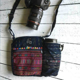 Embroidered Camera Bag with Lens Pocket The Fox and the Mermaid