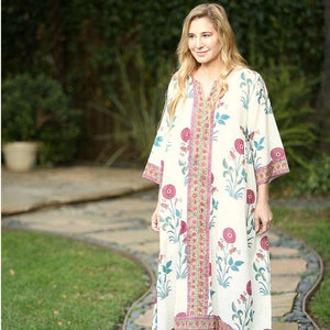 floral indian kaftan dress - The Fox and the Mermaid