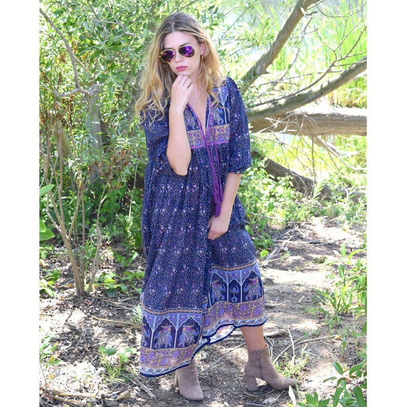 hippie fashion indian cotton dress the-fox-and-the-mermaid