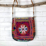Embroidered Vintage Banjara Computer and Messenger Bag - The Fox and The Mermaid