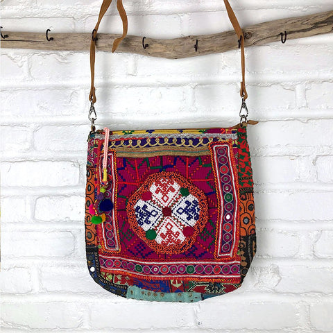 Embroidered Vintage Banjara Computer and Messenger Bag
