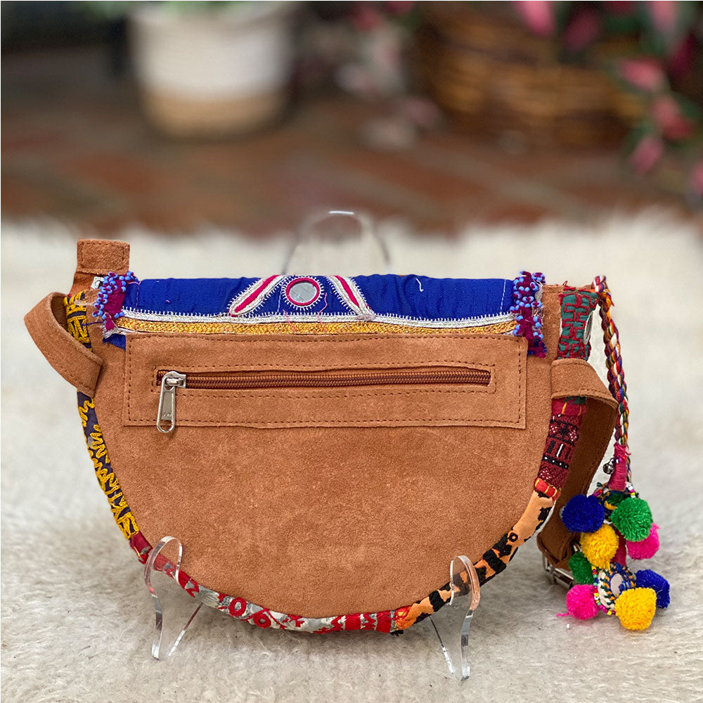 indian suede tribal hip bag - The Fox and the Mermaid