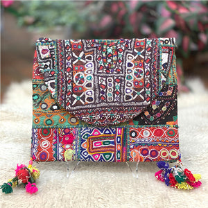Indian Handmade Bohemian clutch - The Fox and the Mermaid