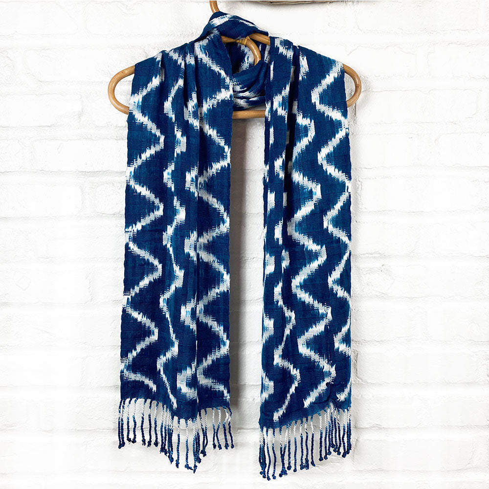 handwoven scarf from guatemala - The Fox and the Mermaid