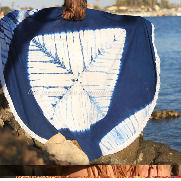 Shibori Tie-dye Roundie with Fringe - The Fox and The Mermaid