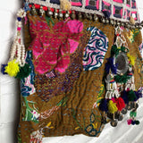 detail embroidered kantha bag The Fox and the Mermaid