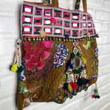 side view kantha bag The Fox and the Mermaid