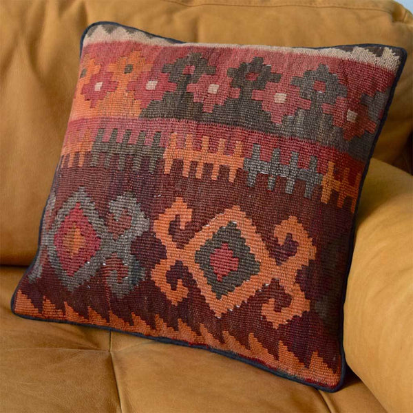 Vintage Kilim Cushion The Fox and the Mermaid