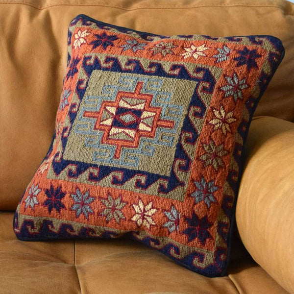 Kilim Loom Cushion Cover The Fox and the Mermaid