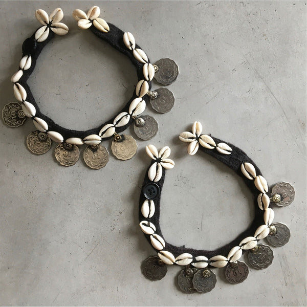 Kuchi Tribe Anklets with Coins and Cowrie Shells - The Fox and The Mermaid