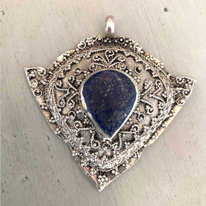 Lapis Vintage Pendant The Fox and the Mermaid