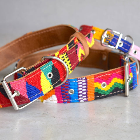 Embroidered Mayan Dog Collar