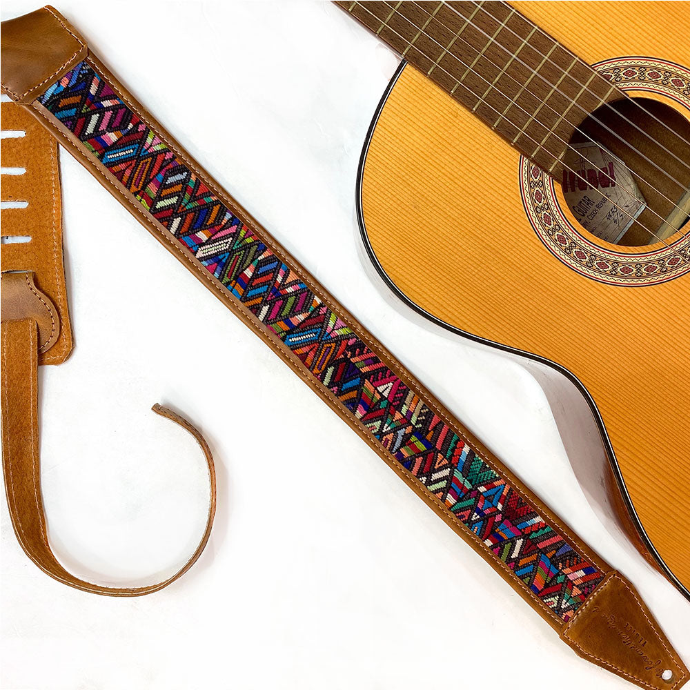 Vintage Guitar Strap from Guatemala - The Fox and the Mermaid