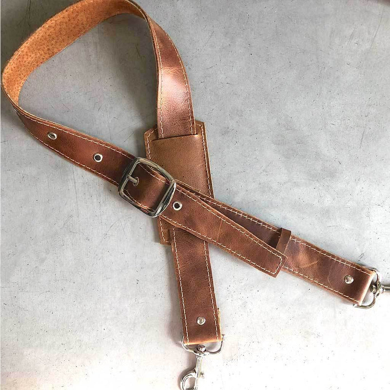 Adjustable Leather Bag Strap The Fox and the Mermaid