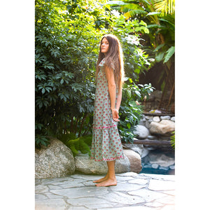 Soft cotton hand printed maxi dress - The Fox and the Mermaid