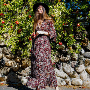 long bohemian maxi dress - The Fox and the Mermaid