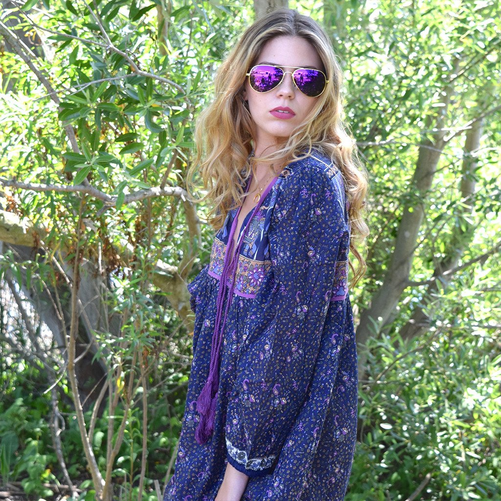 boho hippie festival style dress the-fox-and-the-mermaid