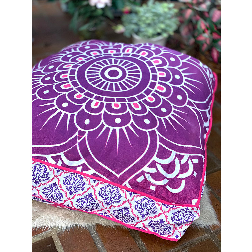 Purple Ombre Lotus Flower Floor Pillow or Dog Bed