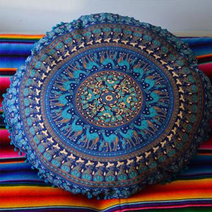 Mandala Tapestry Floor Cushion: Blue - The Fox and The Mermaid - 3
