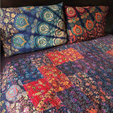 Mandala Patchwork Kantha Quilt The Fox and the Mermaid