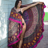 The Spellbinder Mandala Roundie with Pink Fringe - The Fox and The Mermaid - 1