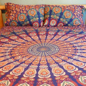 The Gypsy Wanderer Tapestry Bedding - The Fox and The Mermaid - 1