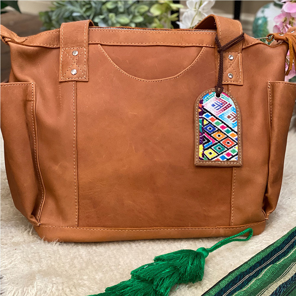 Tan Matte Leather Bag From Guatemala - The Fox and the Mermaid