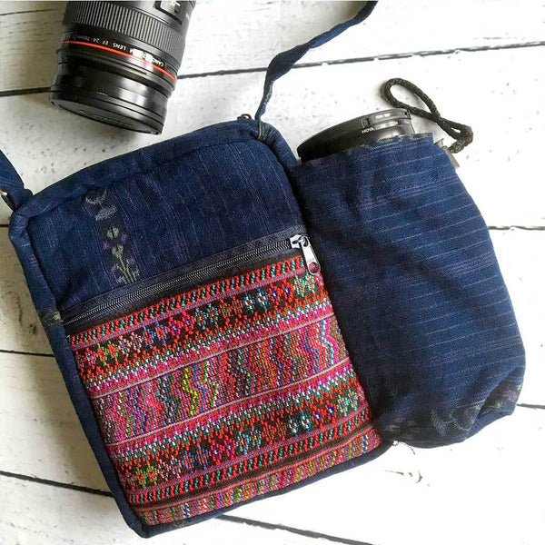 Embroidered Camera Bag - The Fox and The Mermaid