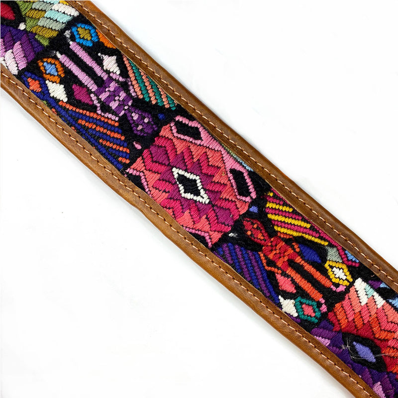 detail of mayans on  Guitar Strap - The Fox and the Mermaid