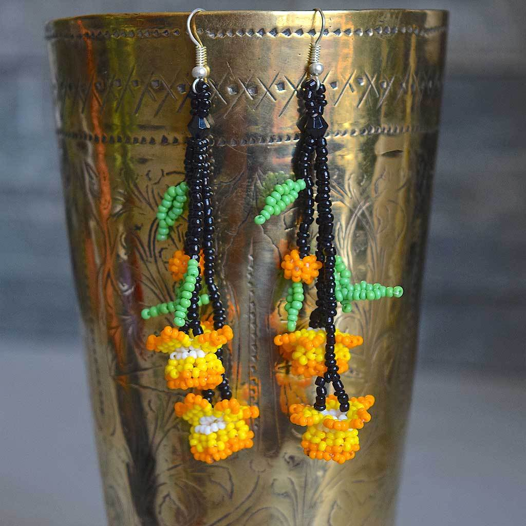 Native American Beaded Earrings The Fox and the Mermaid